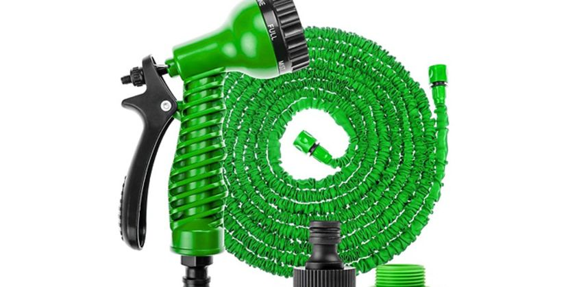 25ft-100ft Expandable Magic Hose with 7 Modes - Optional Holder from GoGroopie