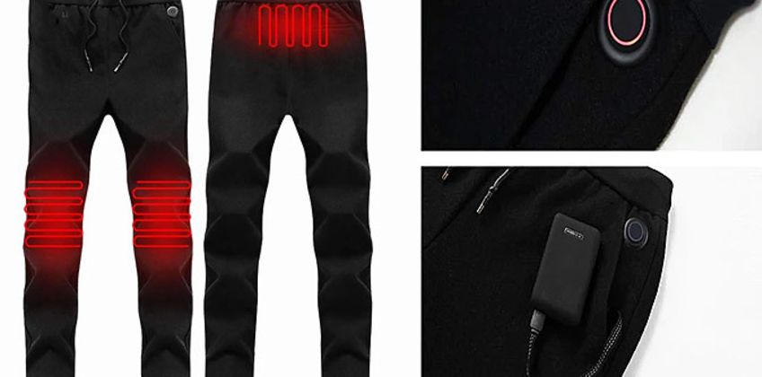 HOTtrack Electric Heated Tracksuit Bottoms - 6 Sizes from GoGroopie