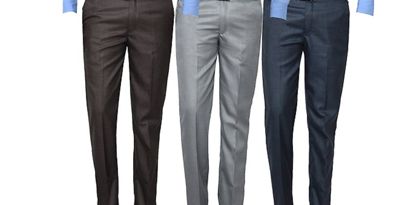 3-Pack of Men's Formal Trousers from GoGroopie