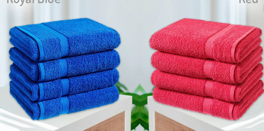 4 x Jumbo Egyptian Cotton Bath Sheets - 13 Colours from GoGroopie