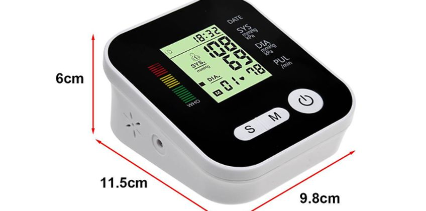 4-in-1 Blood Pressure Monitor with LCD Display + Voice Function from GoGroopie