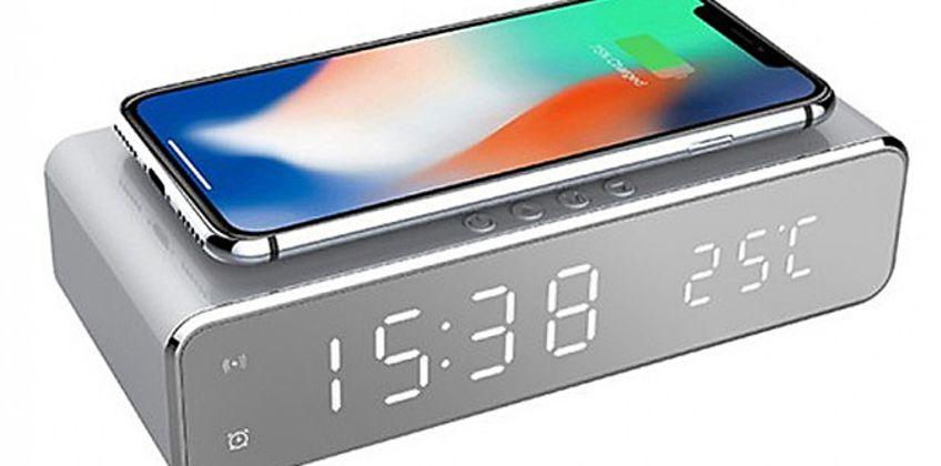 2-in-1 Wireless Charging Alarm Clock from GoGroopie