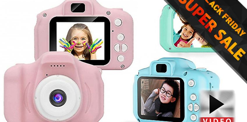 Perfect present for the mini-Papparazzi in your life - Mini Digital Kids Camera with Optional 32GB SD Card from GoGroopie
