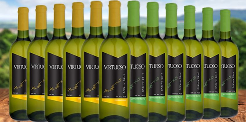 12 Bottles of Chardonnay or Sauvignon Blanc Wines from GoGroopie