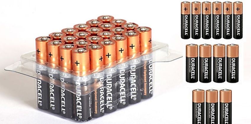 Duracell AA or AAA Batteries - Pack of 12, 24, 40, 48 or 60 from GoGroopie