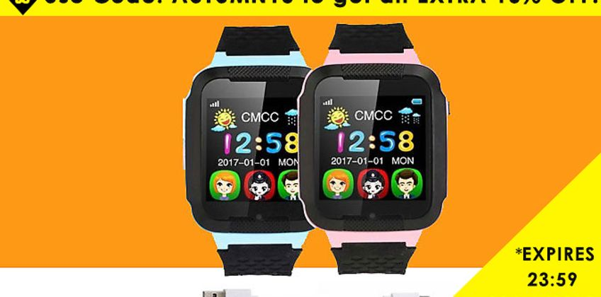Never lose track of them with the Kids Smart Watch with Bluetooth GSM Locator - 2 Colours  from GoGroopie