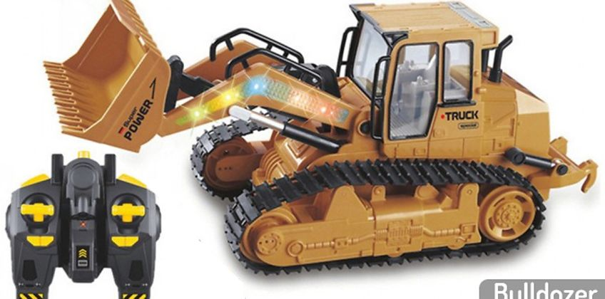 Remote Control Digger or Bulldozer Toy from GoGroopie