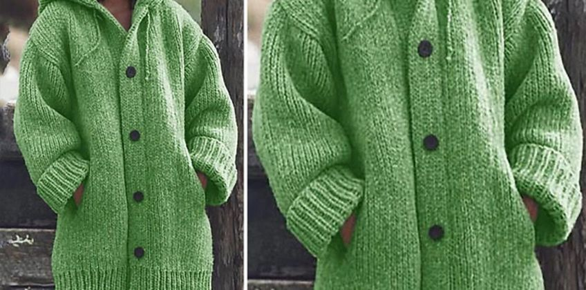Chunky Knitwear Cardigan - 5 Colours & Sizes 6 to 20! from GoGroopie