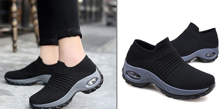 Breathable AirCushion Trainers - 3 Colours & 8 Sizes from GoGroopie