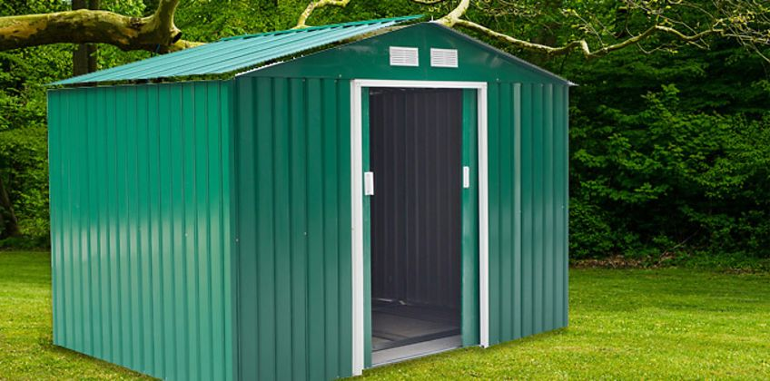 Large or XL Metal Garden Shed - 3 Colours from GoGroopie