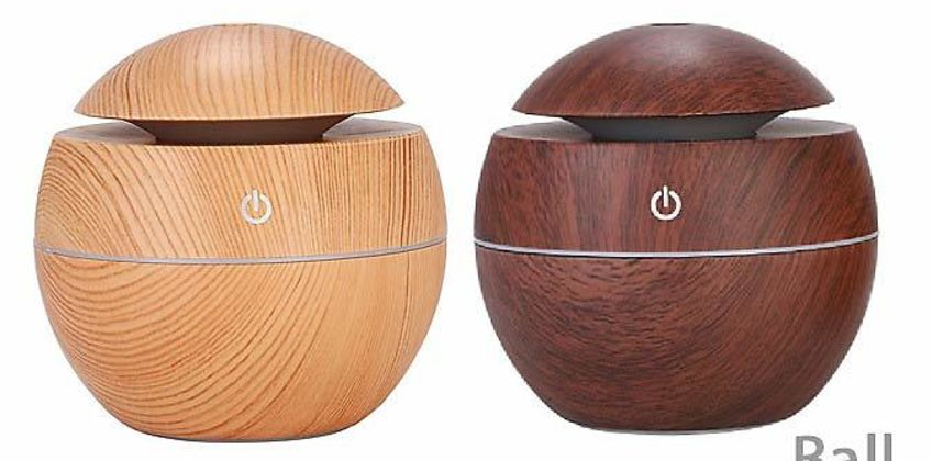 Electric Aroma Humidifier With Optional Essential Oils - 3 Designs & 2 Colours from GoGroopie