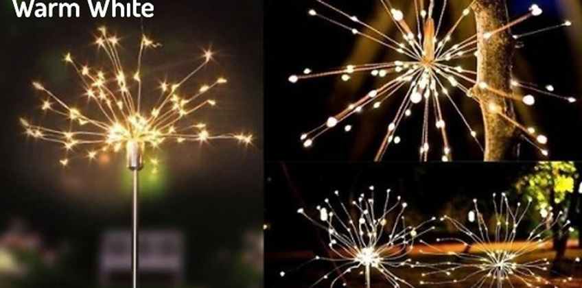 Solar Powered Firework Lights - 3 Sizes & 3 Colours from GoGroopie