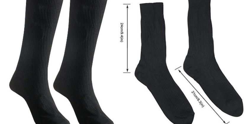 3-in-1 Electric Thermal Socks - 1, 2 or 4 Pairs! from GoGroopie
