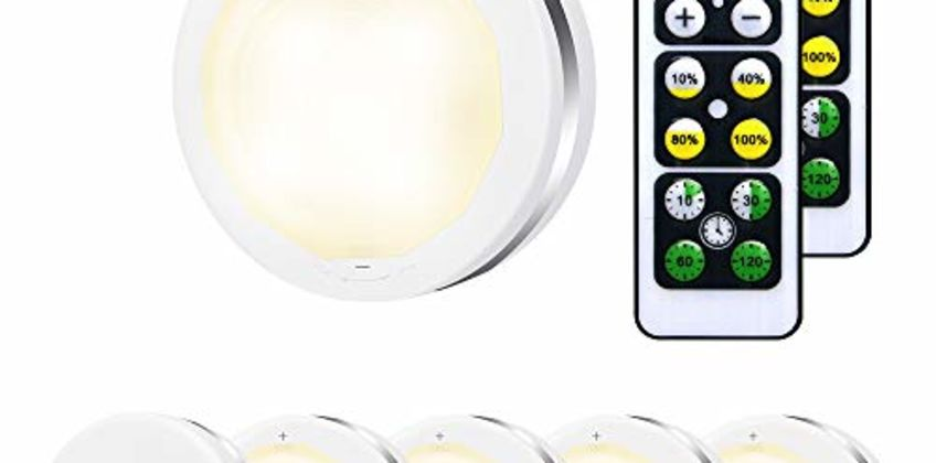 Bawoo Wireless LED Puck Lights from Amazon