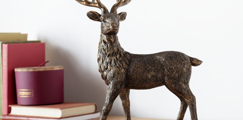 Argos Home Berry Christmas Stag from Argos