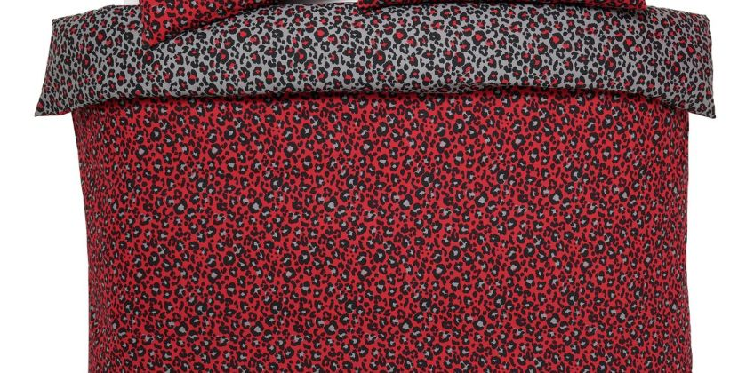 Argos Home Red Leopard Bedding Set - Double from Argos