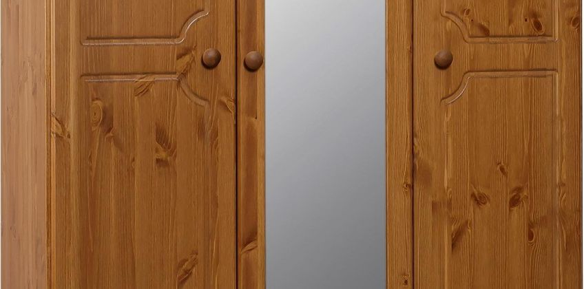 Argos Home Nordic 3 Door 5 Drawer Mirror Wardrobe from Argos