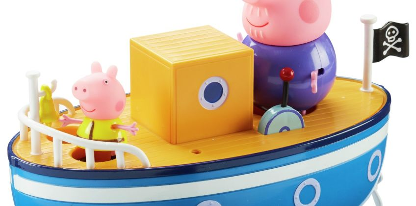 Peppa Pig Grandpa Pig's Bathtime Boat from Argos