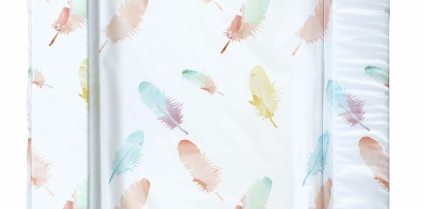 East Coast Nursery Feathers Changing Mat - Coral from Argos