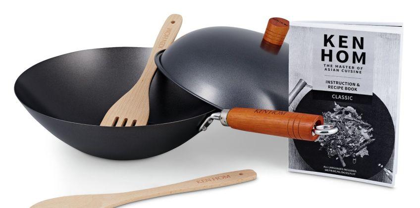 Ken Hom Classic 31cm Non-Stick Carbon Steel 5 Piece Pan Set from Argos