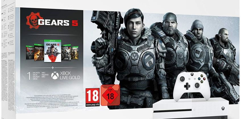 Xbox One S 1TB Console & Gears 5 Bundle from Argos