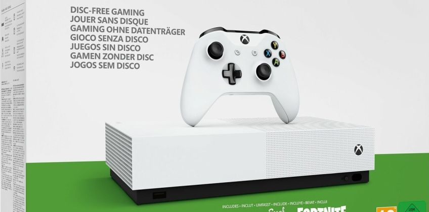 Xbox One S 1TB All Digital Console Fortnite & 2 Game Bundle from Argos