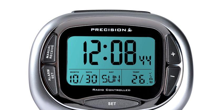 Precision Radio Controlled Digital Alarm Clock from Argos