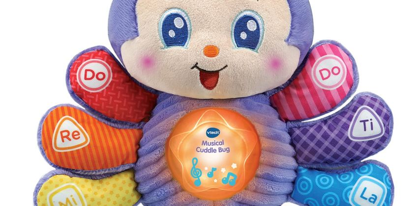 VTech Musical Cuddle Bug Soft Toy from Argos
