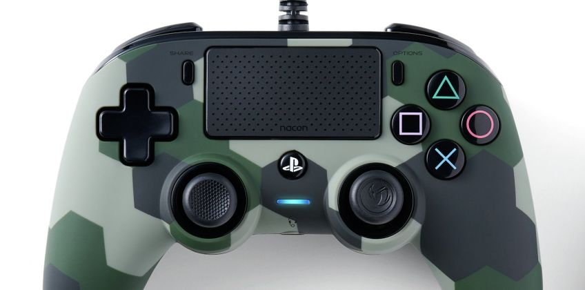 Nacon PS4 Compact Controller - Camo Green from Argos