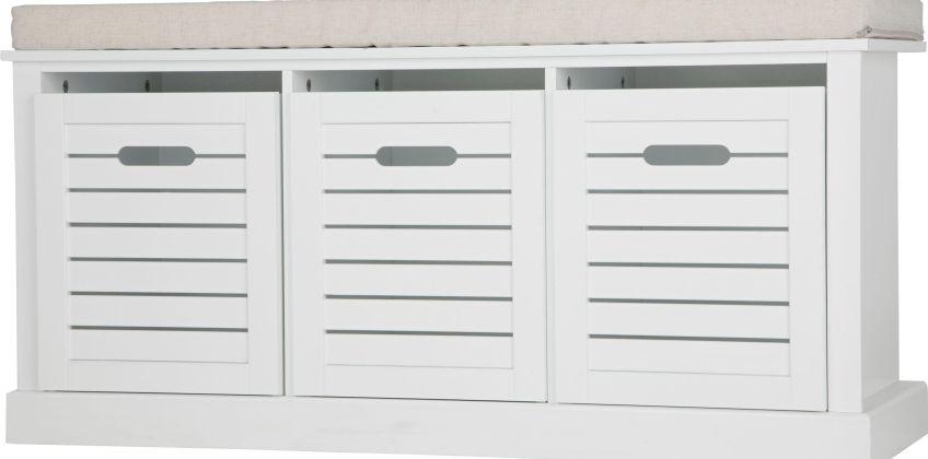 Argos Home Hereford Storage Bench - White from Argos