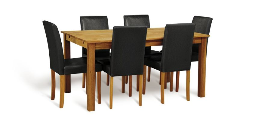 Argos Home Ashdon Solid Wood Dining Table & 6 Chairs from Argos