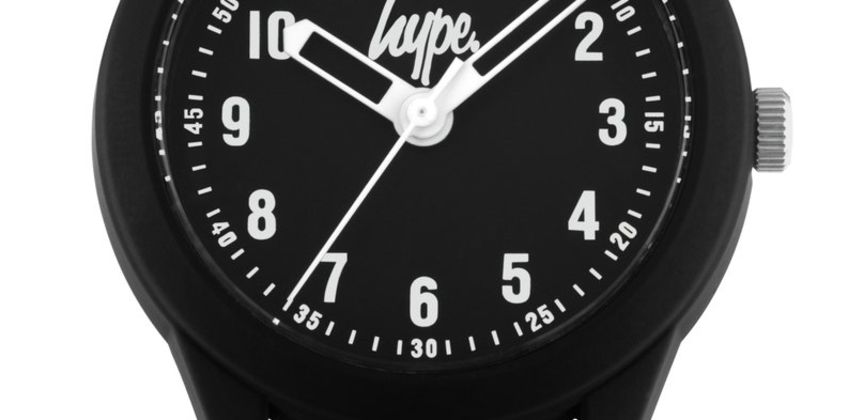 Hype  Black and White Splatter Silicone Strap Watch from Argos