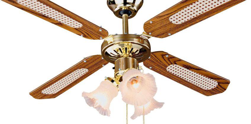 Argos Home Decorative 3 Light Ceiling Fan - Brass from Argos