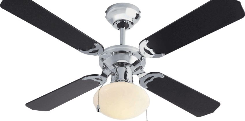 Argos Home Ceiling Fan - Black & Chrome from Argos
