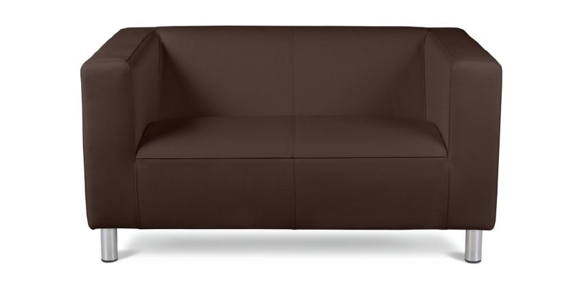 Argos Home Moda Compact 2 Seater Faux Leather Sofa - Brown from Argos