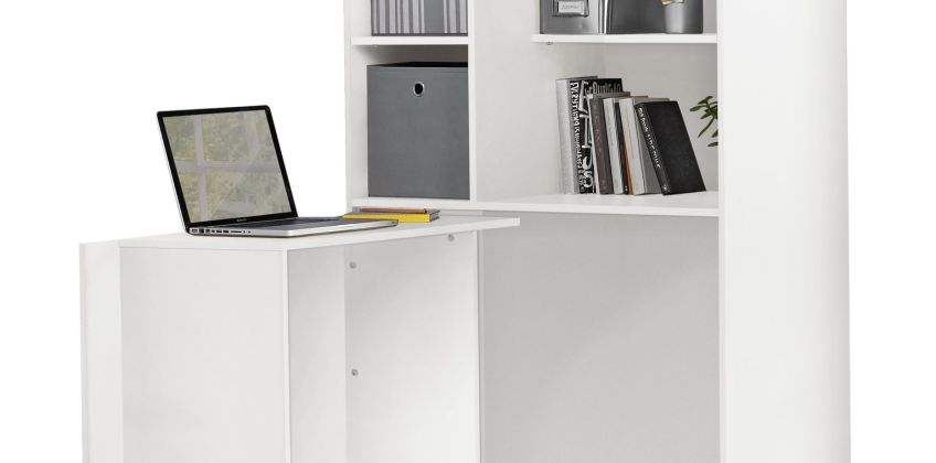 Argos Home Calgary Hideaway Corner Office Desk - White from Argos