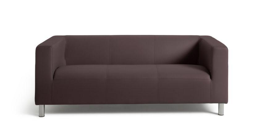 Argos Home Moda 3 Seater Faux Leather Sofa - Brown from Argos