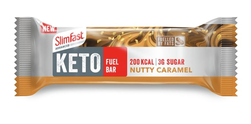 Slimfast Keto Fuel Bar Nutty Caramel x 12 from Argos