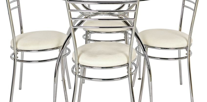 Argos Home Lusi Glass Dining Table & 4 Chairs from Argos