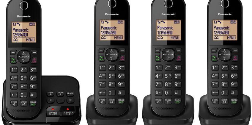 Panasonic Cordless Telephone with Answer Machine - Quad from Argos