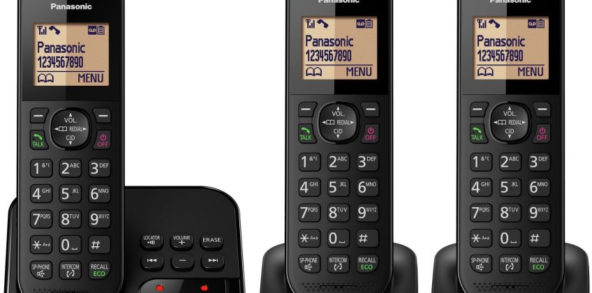 Panasonic Cordless Telephone with Answer Machine - Triple from Argos