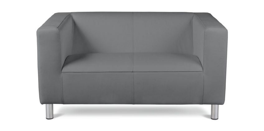 Argos Home Moda Compact 2 Seater Faux Leather Sofa - Grey from Argos