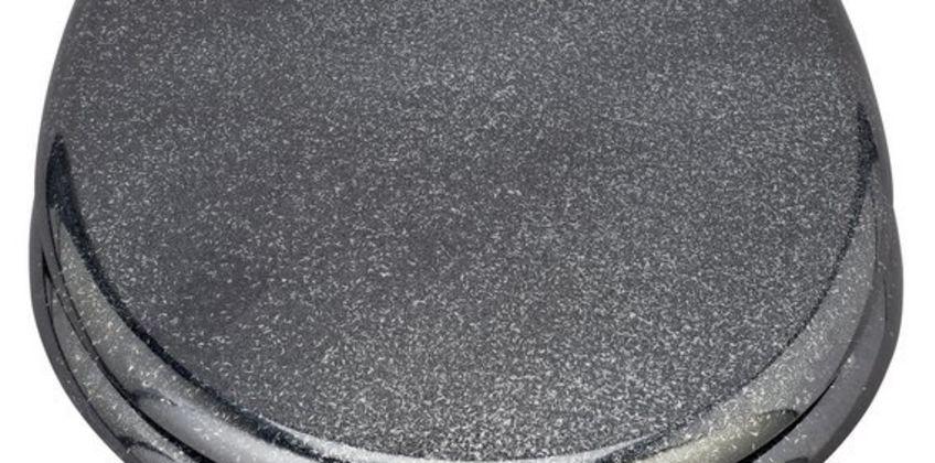 Argos Home Black Glitter Slow Close Toilet Seat from Argos