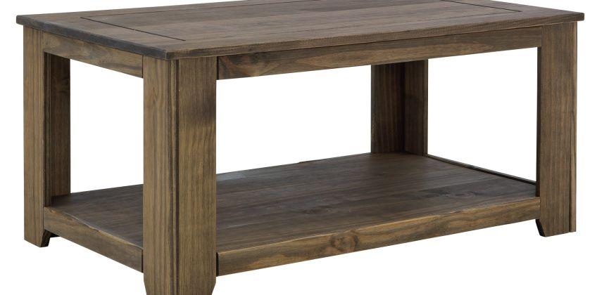 Argos Home Amersham Solid Wood Coffee Table - Dark Pine from Argos