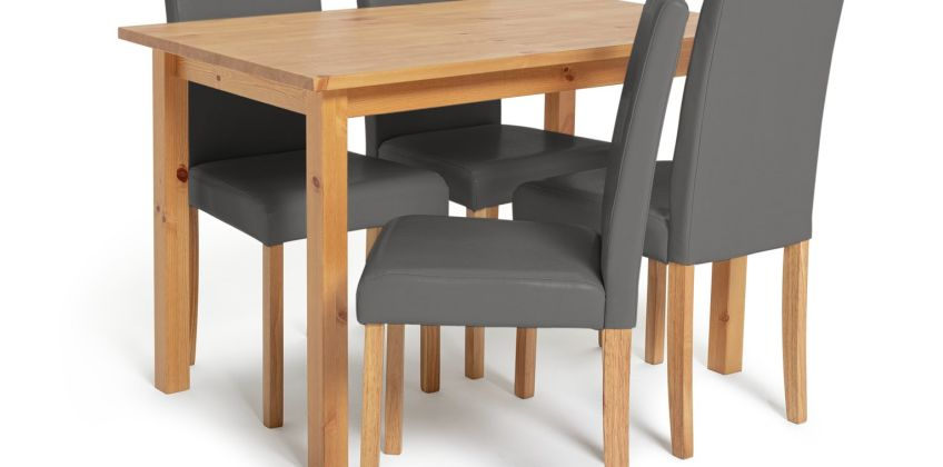 Argos Home Ashdon Solid Wood Dining Table & 4 Chairs from Argos