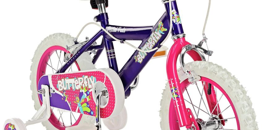 Pedal Pals 14 Inch Butterfly Kids Bike from Argos