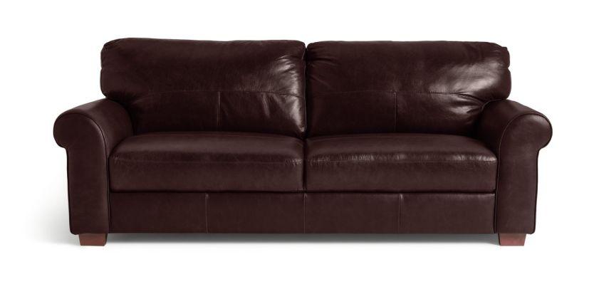 Argos Home Salisbury 4 Seater Leather Sofa - Dark Brown from Argos