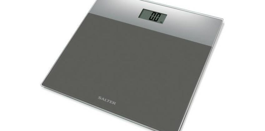 Salter Glass Electronic Bathroom Scales - Silver from Argos