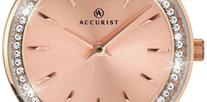 Accurist Ladies Rose Gold Plated Stainless Steel Watch from Argos