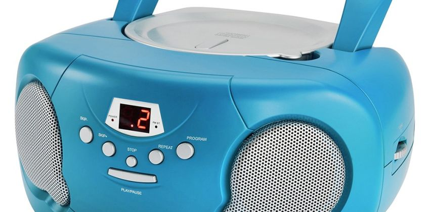Groov-e Boombox CD Player with Radio – Blue from Argos